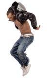 O dançarino que salta altamente foto de stock royalty free
