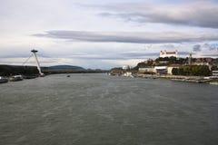O Danube River em Bratislava Imagem de Stock