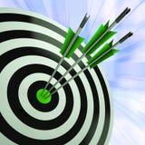 O dardo triplo mostra a excelência e a habilidade Imagem de Stock Royalty Free