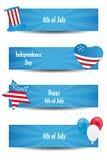 4o de bandeiras de julho Imagem de Stock