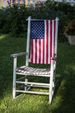 4o de decorações de julho no quintal Imagem de Stock