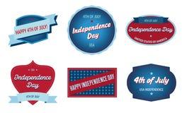 4o de emblemas de julho Imagem de Stock Royalty Free