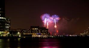 4o de fogos-de-artifício de julho Foto de Stock Royalty Free