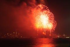 4o de fogos-de-artifício de julho em New York Imagem de Stock Royalty Free