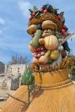 O ` de quatro estações é uma série de quatro cabeças gigantes, cada um da escultura que representa uma estação do ano Artista Phi Foto de Stock