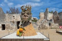 O ` de quatro estações é uma série de quatro cabeças gigantes, cada um da escultura que representa uma estação do ano Artista Phi Imagens de Stock