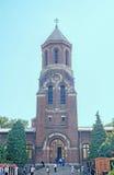 O ` de Romênia, igreja ortodoxa de Curtea de Arges do ` do monastério, detalhe da capela Fotografia de Stock Royalty Free