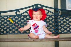 4o de sorriso do bebê de julho Imagens de Stock Royalty Free