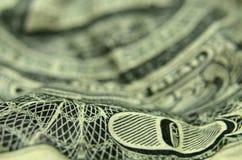 O O de UM na nota de dólar dos E.U. imagens de stock royalty free