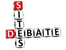 o debate 3D situa palavras cruzadas Imagens de Stock Royalty Free