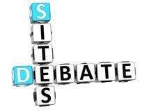 o debate 3D situa palavras cruzadas Fotografia de Stock