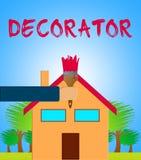 O decorador home significa a ilustração da pintura de casa 3d ilustração royalty free