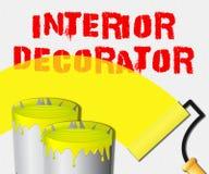 O decorador interior indica a ilustração home do pintor 3d ilustração royalty free