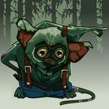 O dedo verde da floresta do monstro dos desenhos animados aponta no sentido Imagem de Stock Royalty Free