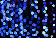 O defocus azul mancha o fundo Fotografia de Stock Royalty Free