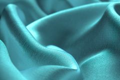 O delicado drapeja da cor de turquesa da tela do cetim ilustração do vetor