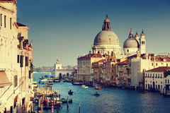 O della de Santa Maria do canal grande e da basílica sauda, Veneza Fotos de Stock Royalty Free