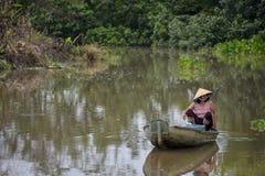 O delta de Mekong, pode Tho, Vietnam Foto de Stock Royalty Free