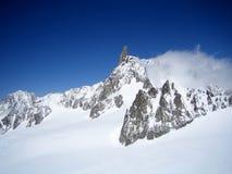 O dente do gigante, massif de Mont Blanc, Italy Imagem de Stock