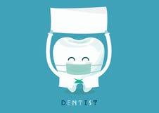 O dentista escreve aqui Fotos de Stock