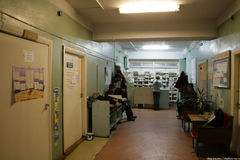 O departamento de emergência em um hospital provincial Imagens de Stock