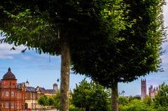 O depositário verde da cidade Foto de Stock Royalty Free