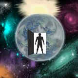 O desejo descobrir todos os segredos do universo ilustração stock