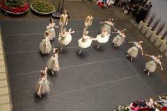O desempenho da empresa de Dallas Ballet considerou do segundo andar fotos de stock