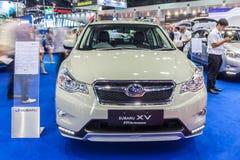 O desempenho da WTI de Subaru XV, o cruzamento projetou encontrar o inpossi Fotografia de Stock Royalty Free