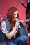 O desempenho do cantor popular Anna Malysheva e a faixa de PNF Mint Fotos de Stock Royalty Free