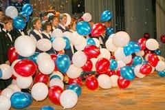 O desempenho do coro vocal no palácio da cultura Imagem de Stock