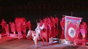 O desempenho e a luz de ar livre mostram em Kaifeng, capital da dinastia de música de China's imagens de stock royalty free