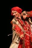 O desempenho na fase do cantor popular nacional do babkina do nadezhda das músicas do russo e da música do russo do teatro Imagem de Stock