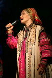 O desempenho na fase dos atores, dos solistas, dos cantores e dos dançarinos da música do russo do teatro nacional Fotos de Stock