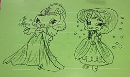 O desenho da menina Imagem de Stock
