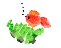 O desenho das crianças boas festas! Imagens de Stock