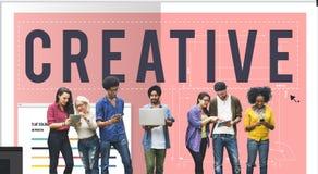 O desenvolvimento criativo da inovação das ideias da faculdade criadora inspira o conceito Imagem de Stock
