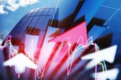 O desenvolvimento rápido da seta da economia imagem de stock
