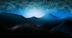 O deserto de Judean com ilustração estrelado do fundo do céu da nuvem Foto de Stock
