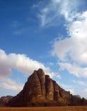 O deserto de Wadi Rum Jordan Fotos de Stock Royalty Free