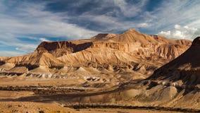 O deserto do Negev famoso em Israel no por do sol Timelapse vídeos de arquivo