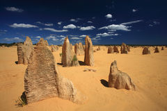 O deserto dos pináculos Fotos de Stock Royalty Free