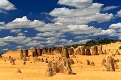 O deserto dos pináculos imagens de stock royalty free