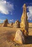 O deserto dos pináculos em Nambung NP, Austrália Ocidental Fotos de Stock