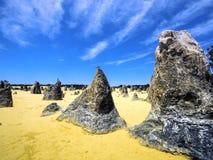 O deserto dos pináculos, parque nacional de Nambung, Austrália Ocidental Imagens de Stock Royalty Free
