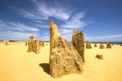 O deserto dos pináculos, parque nacional de Nambung, Austrália Ocidental Foto de Stock Royalty Free