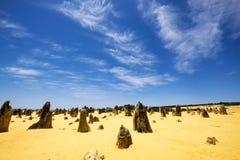 O deserto dos pináculos, parque nacional de Nambung, Austrália Ocidental Imagem de Stock