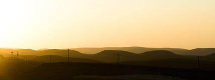 O deserto na cratera de Ramon Imagem de Stock