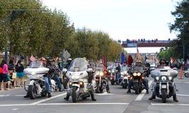 97.o desfile anual 2017 del día del ` s del veterano Imagen de archivo
