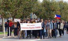 97.o desfile anual 2017 del día del ` s del veterano Foto de archivo libre de regalías